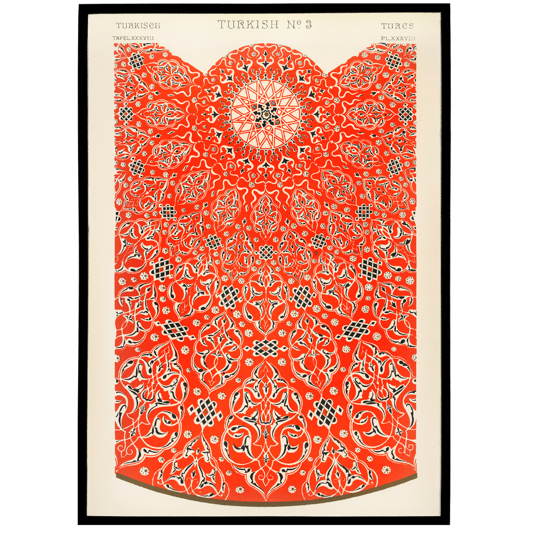 19th Century Grammar of Ornament - Turkish Decor Print