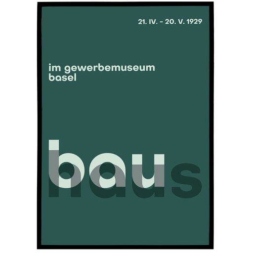 Typographic Bauhaus Poster - Shop posters, Art prints, Laptop Sleeves, Phone case and more Online!