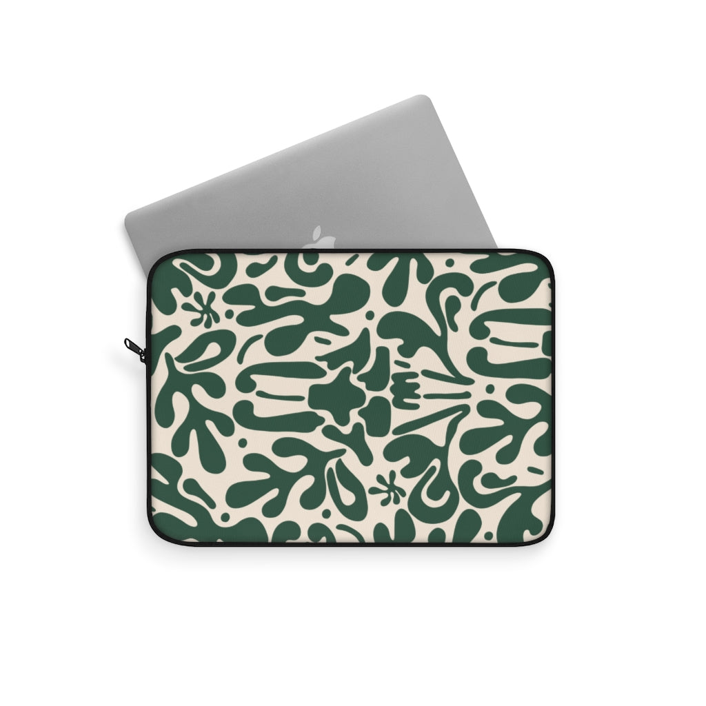 ABSTRACT FLORAL V7 LAPTOP SLEEVE
