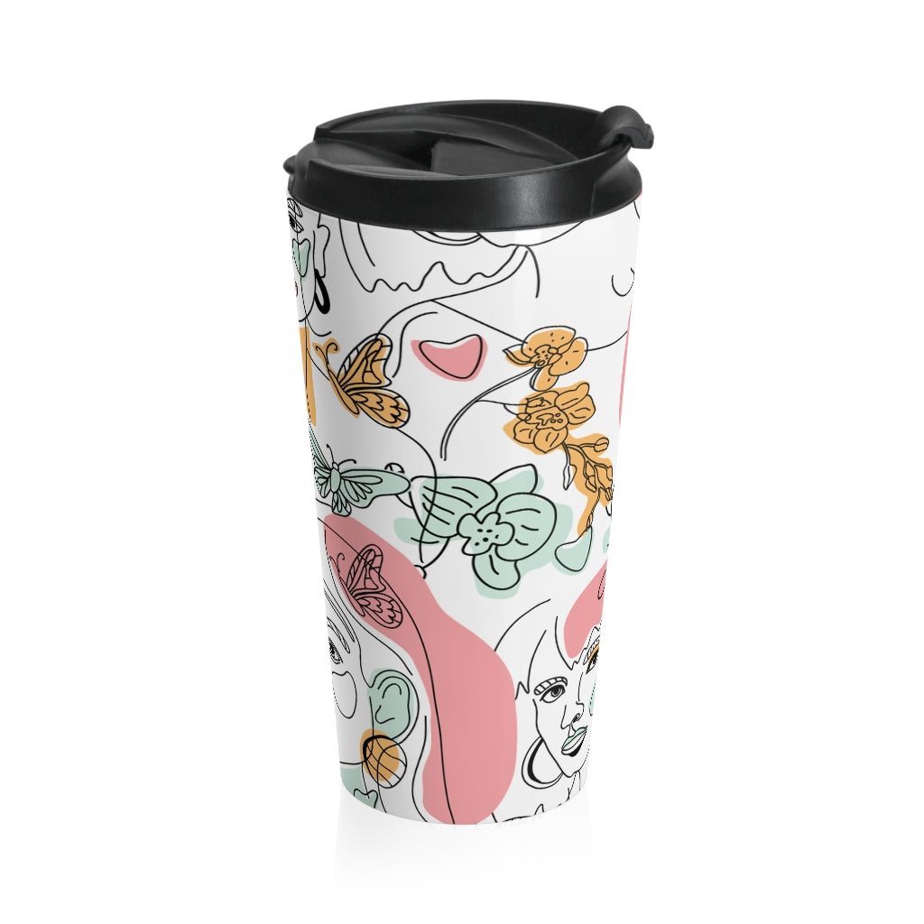 Women Faces Travel Mug
