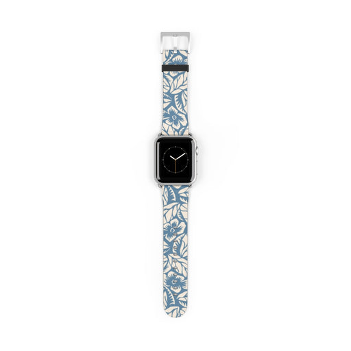 Blue Floral Apple Watch Band