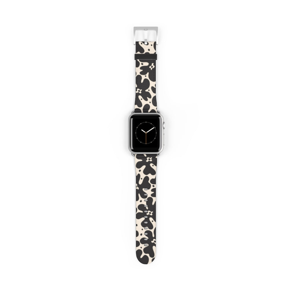Watch Band with Scandi Flowers