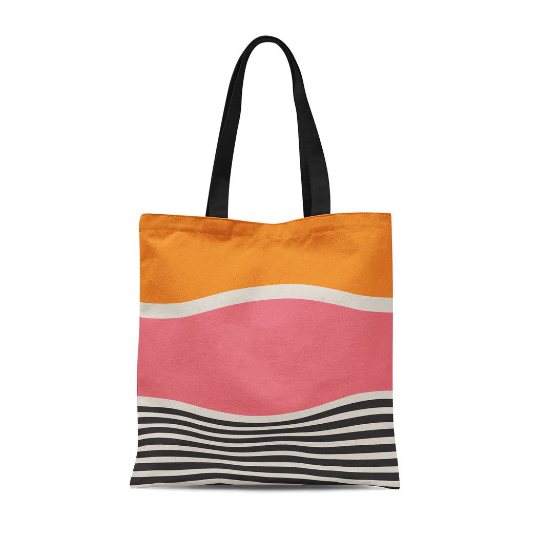 Tote Bag with abstract painting print