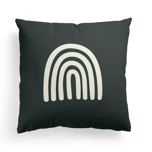 Pillow with Black Rainbow