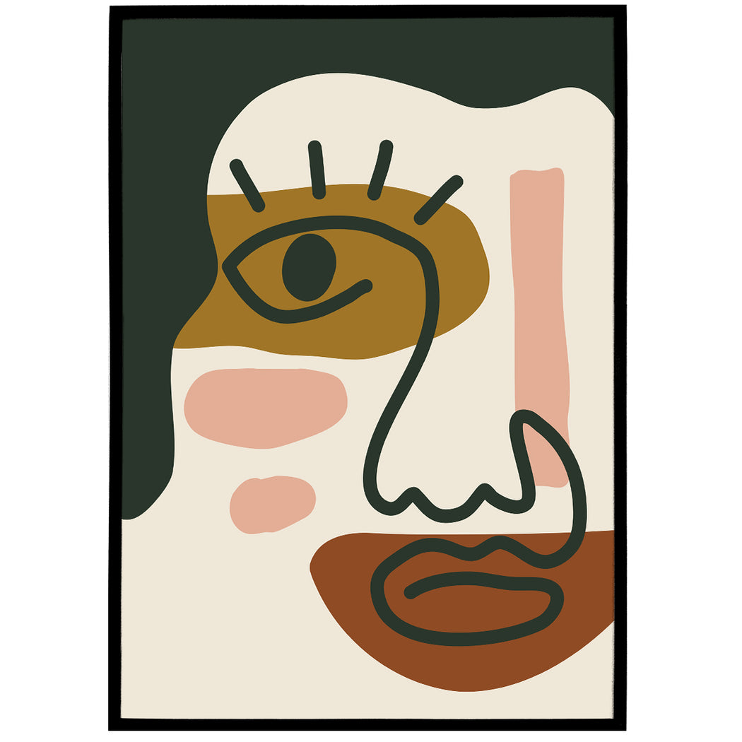 Burnt Orange Abstract Print - Shop posters, Art prints, Laptop Sleeves, Phone case and more Online!
