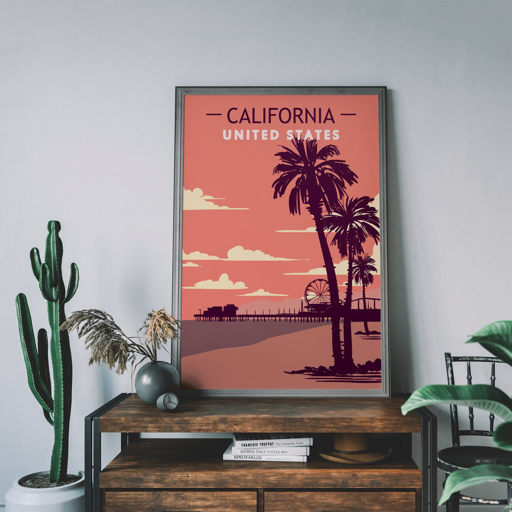 California Travel Poster