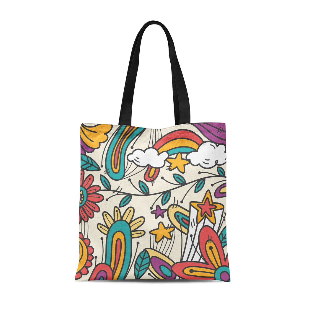 Psychedelic Groovy Tote Bag