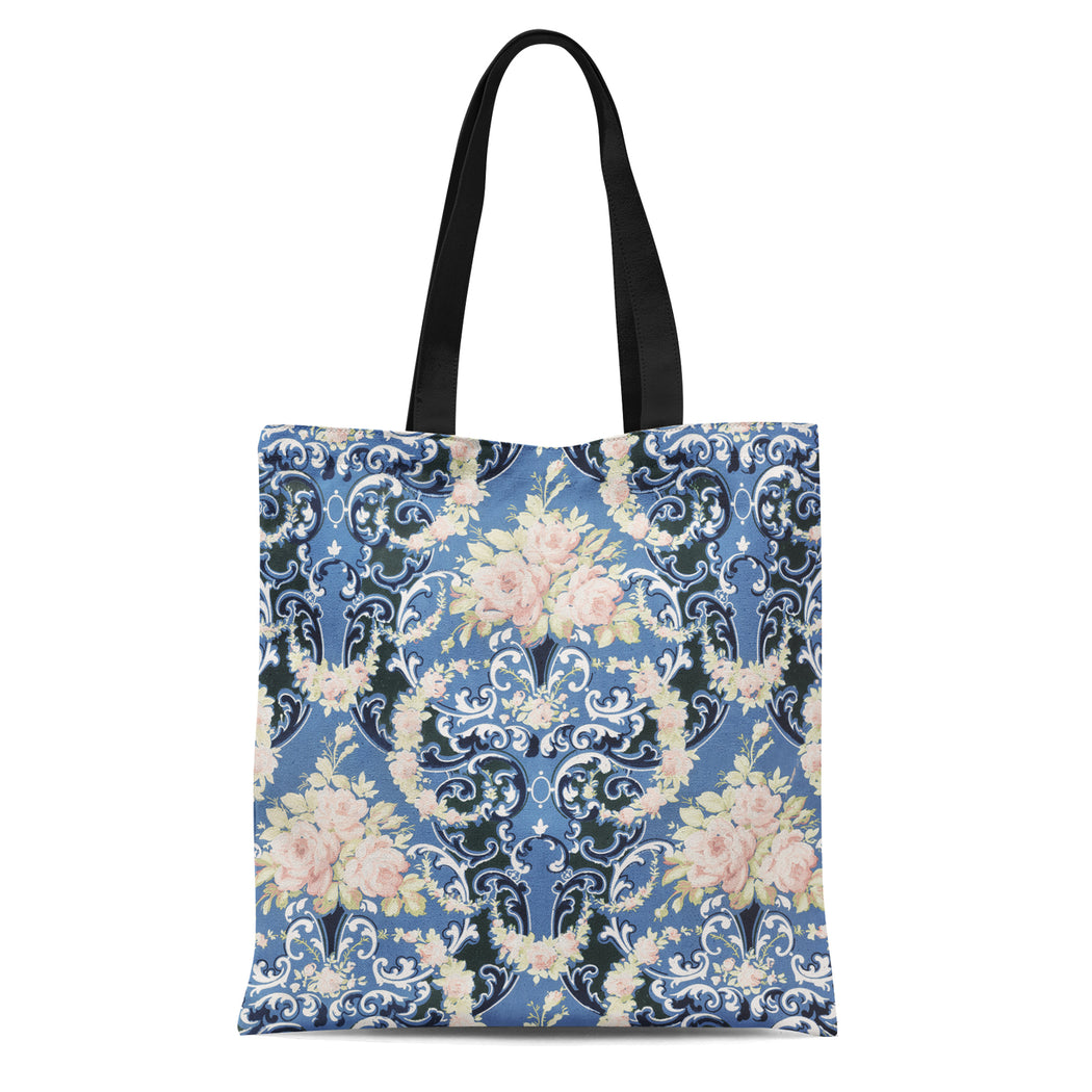 Tote Bag with Floral bouquets print