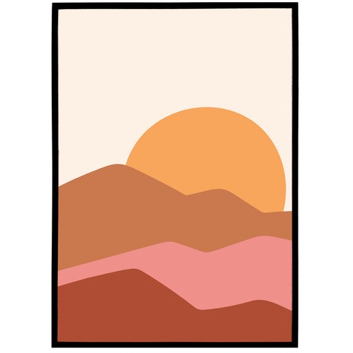 Boho Illustration Print 01 - Sunset