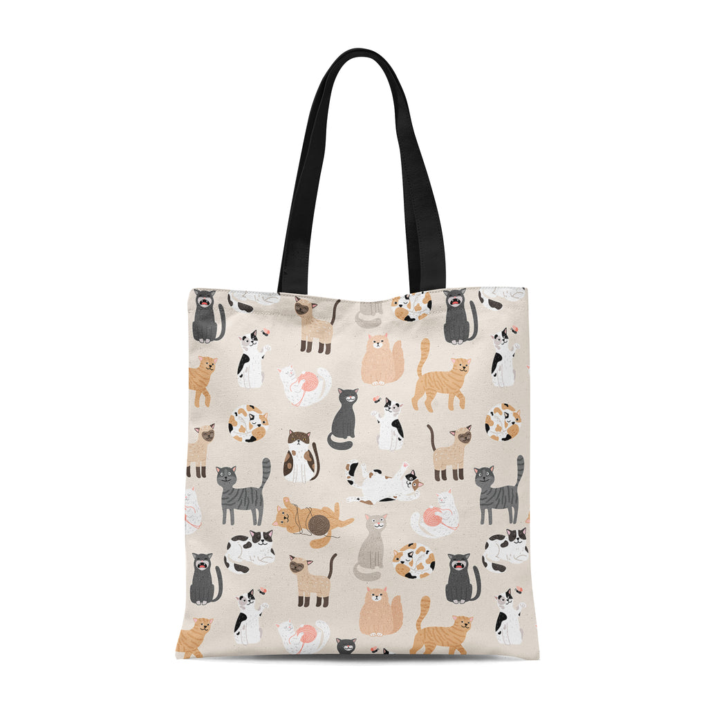 Tote Bag with cute kittens
