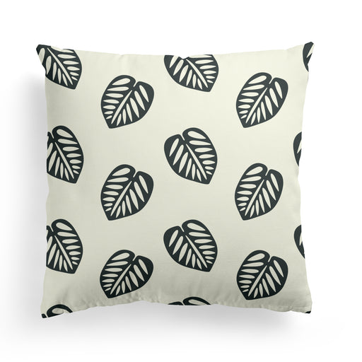 Pillow with Monstera Flower