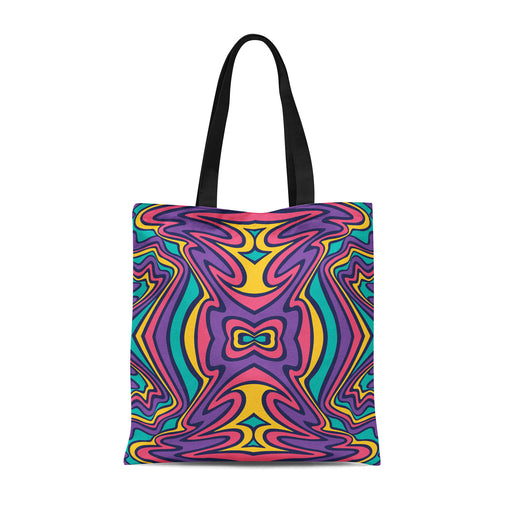 Tote Bag with Psychedelic Print