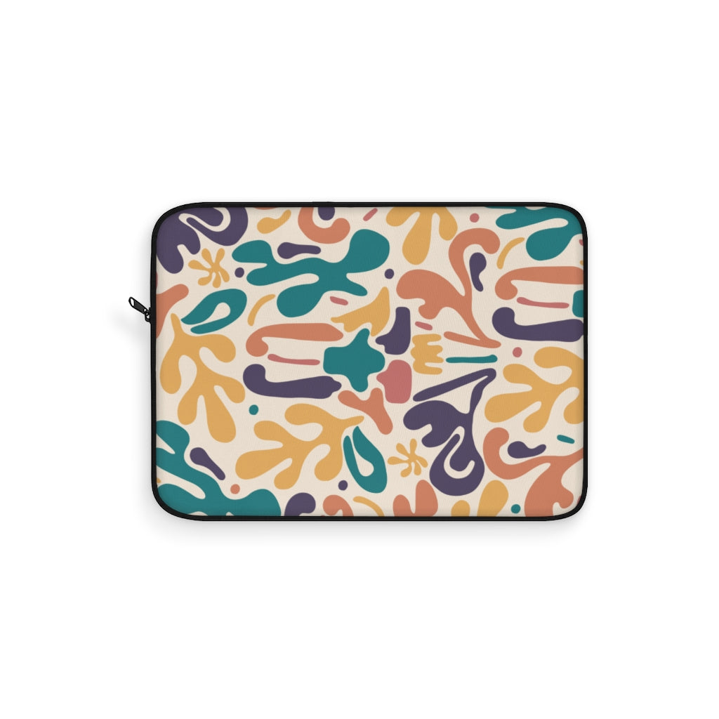 ABSTRACT FLORAL V4 LAPTOP SLEEVE