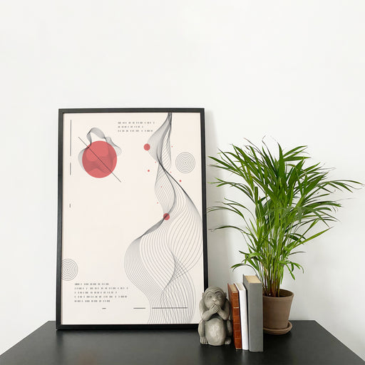 Japan Inspired Abstract Poster