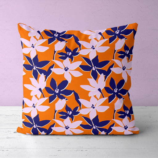 Pillow with Japanese Flowers