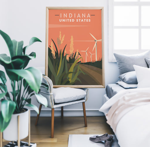 Indiana Travel Poster