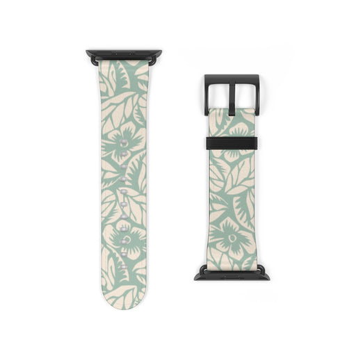 Mint Floral Apple Watch Band