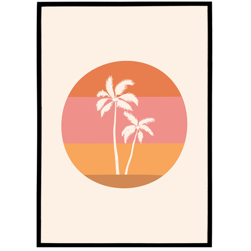 Boho Illustration Print 03 - Palm Beach