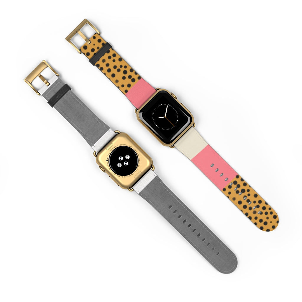 Cheetah Graphic Apple Watch Band
