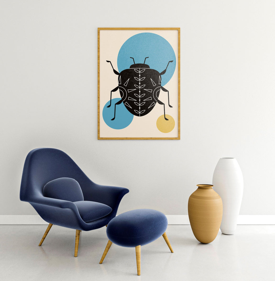 Scandinavian Bug Illustration Print