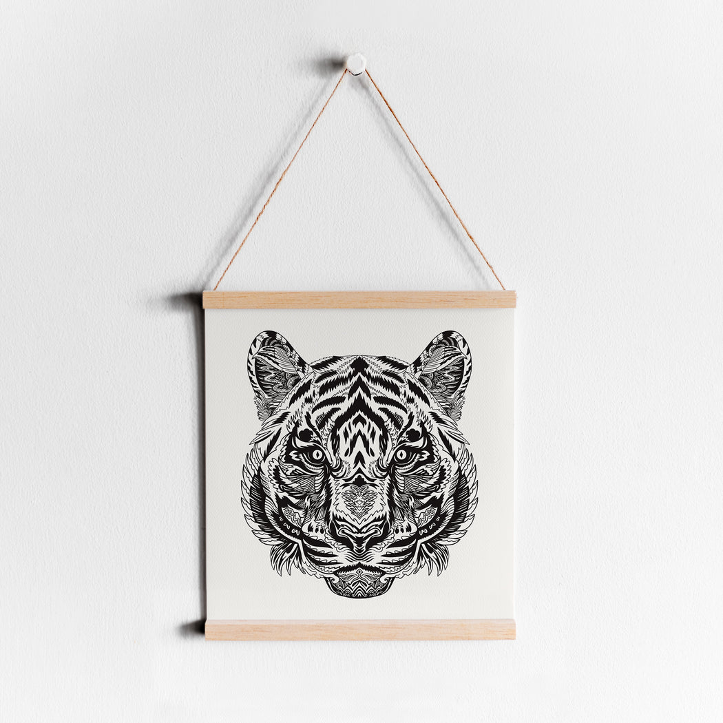 Tiger Head Zentangle Poster