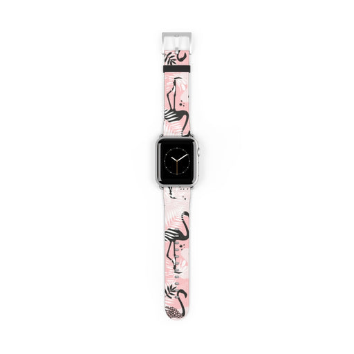 Watch Band with Modern Flamingo