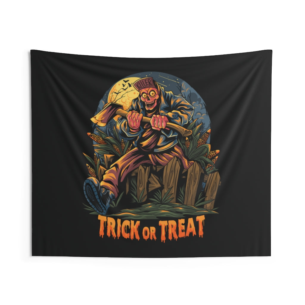 Trick or Treat Halloween Wall Tapestry