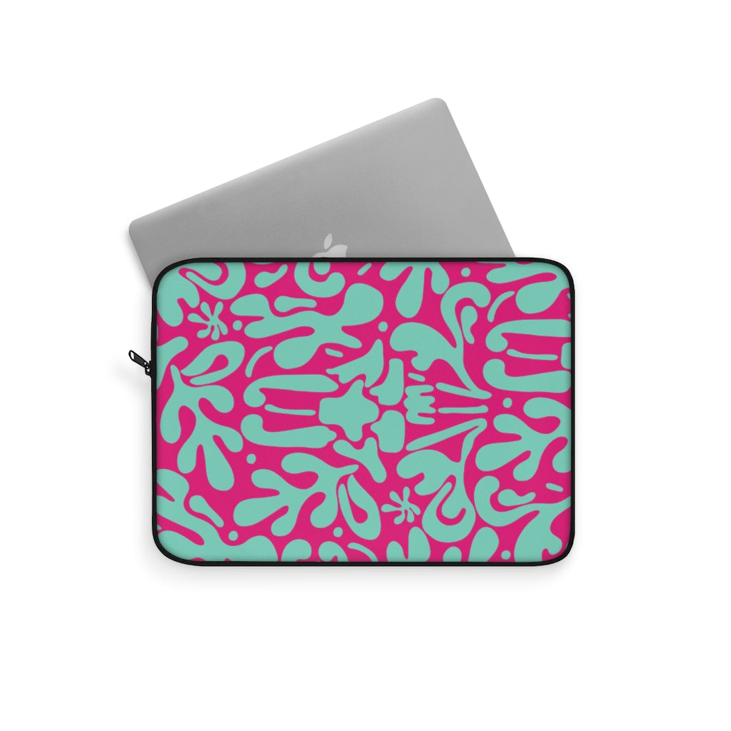 ABSTRACT FLORAL V10 LAPTOP SLEEVE