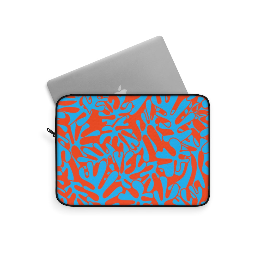 NEON LEAFS V2 LAPTOP SLEEVE