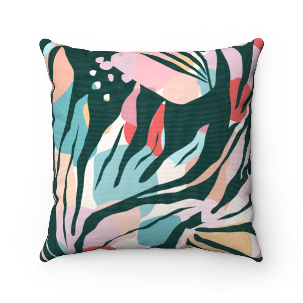 Abstract Jungle Pillow