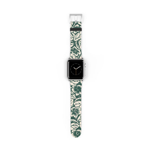 Green Floral Apple Watch Band