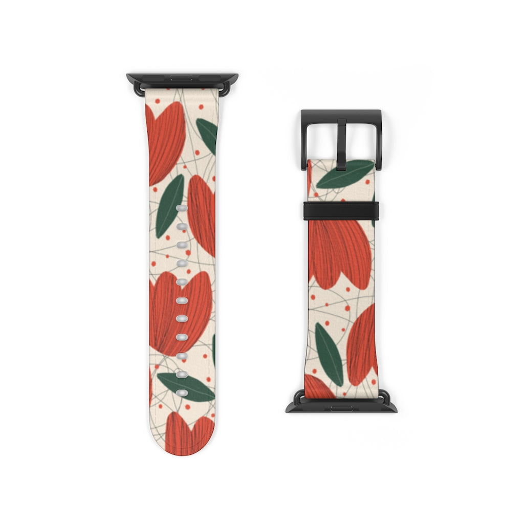 Tulips Art Apple Watch Band