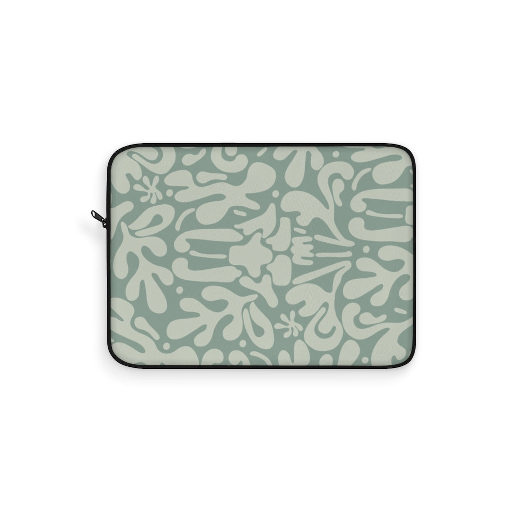 MINT FLORAL LAPTOP SLEEVE