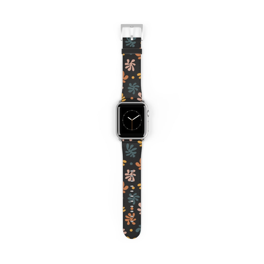 Black Leaves Apple Watch Band