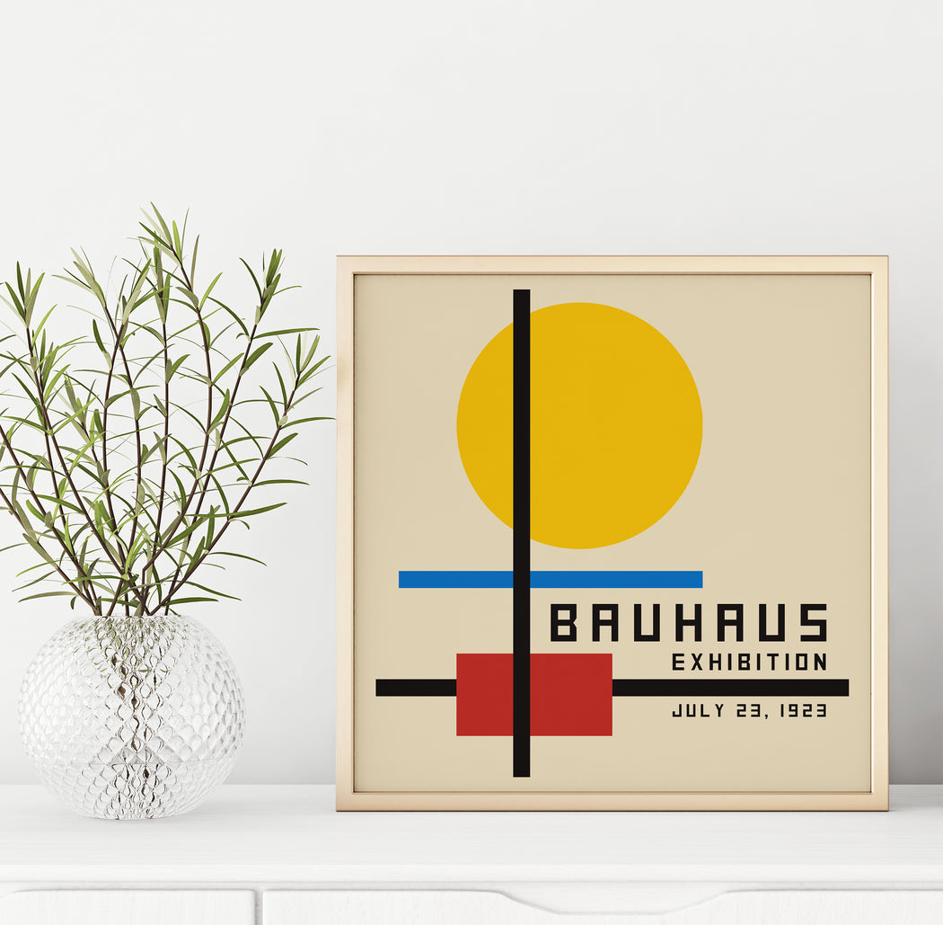 Square Bauhaus Poster - Shop posters, Art prints, Laptop Sleeves, Phone case and more Online!