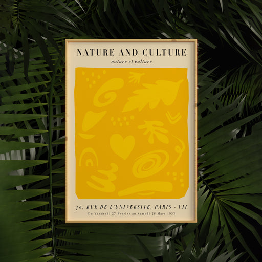 Nature and Culture - french exhibition poster