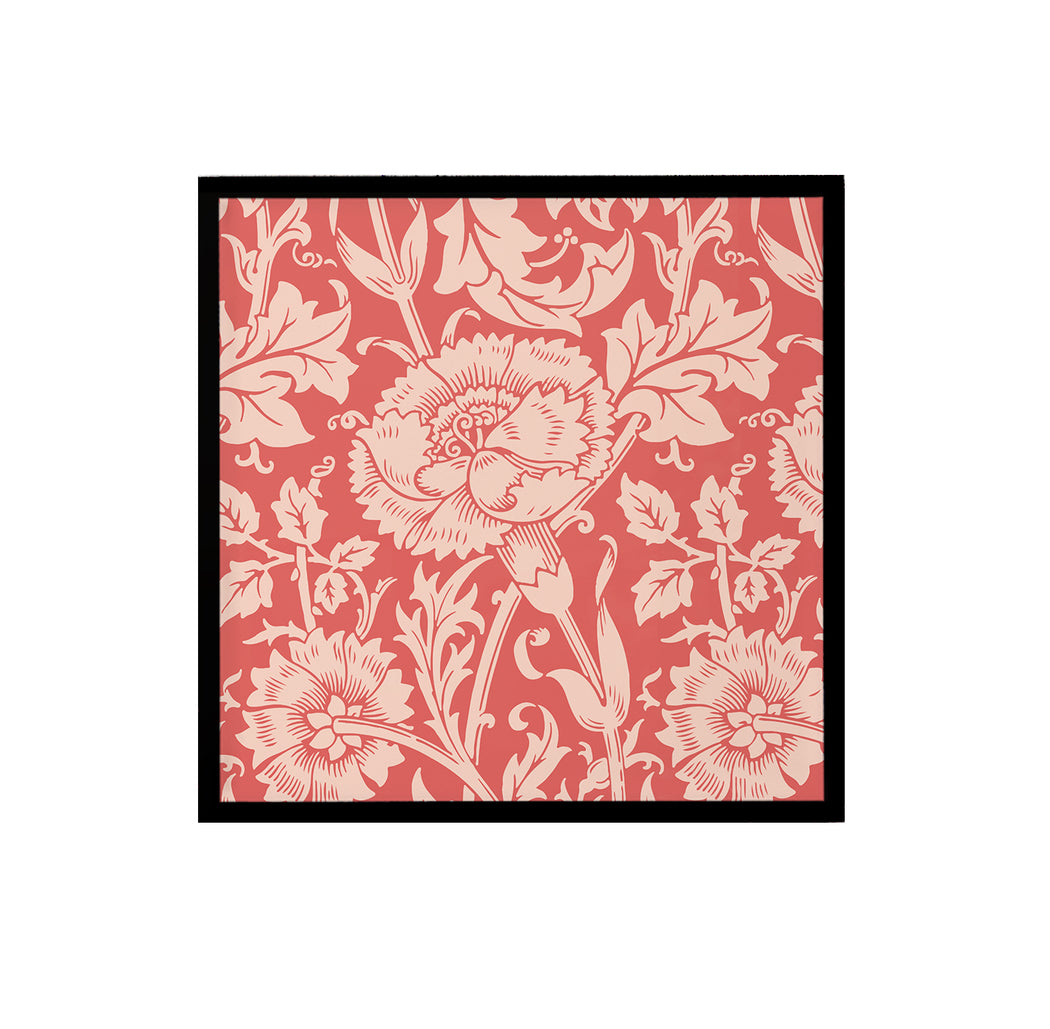 Pink and Red Floral Art Print