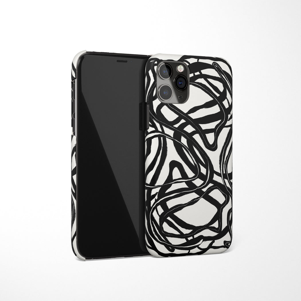 Black and White Drawing iPhone Case