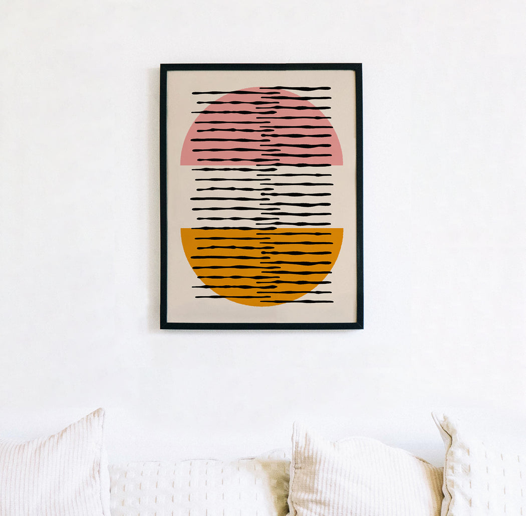 Mid Century Abstract Composition
