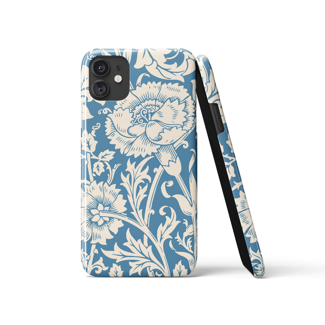 Blue Floral iPhone Case