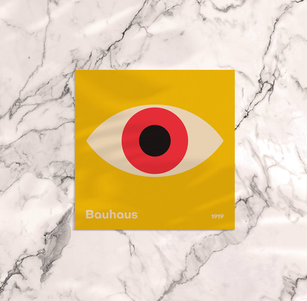 Yellow Bauhaus Poster - Shop posters, Art prints, Laptop Sleeves, Phone case and more Online!