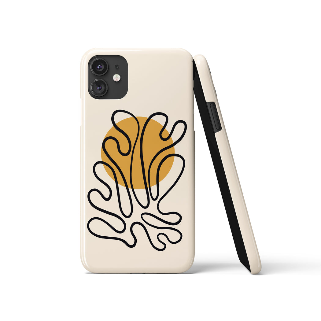 Matisse Leaf Drawing iPhone Case