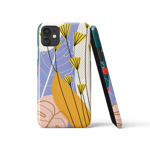 Floral Drawing iPhone Case 3