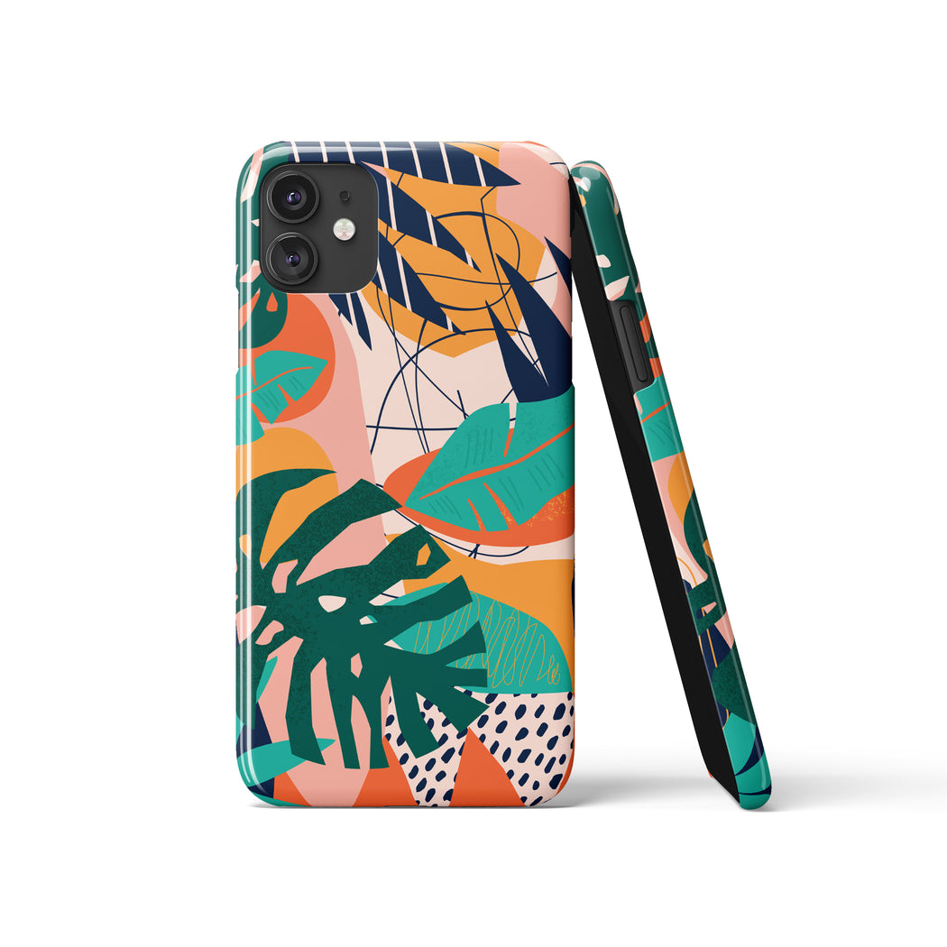 Modern Tropical iPhone Case