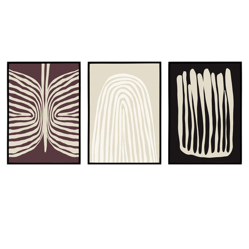 Set of 3 Modern Abstract Prints