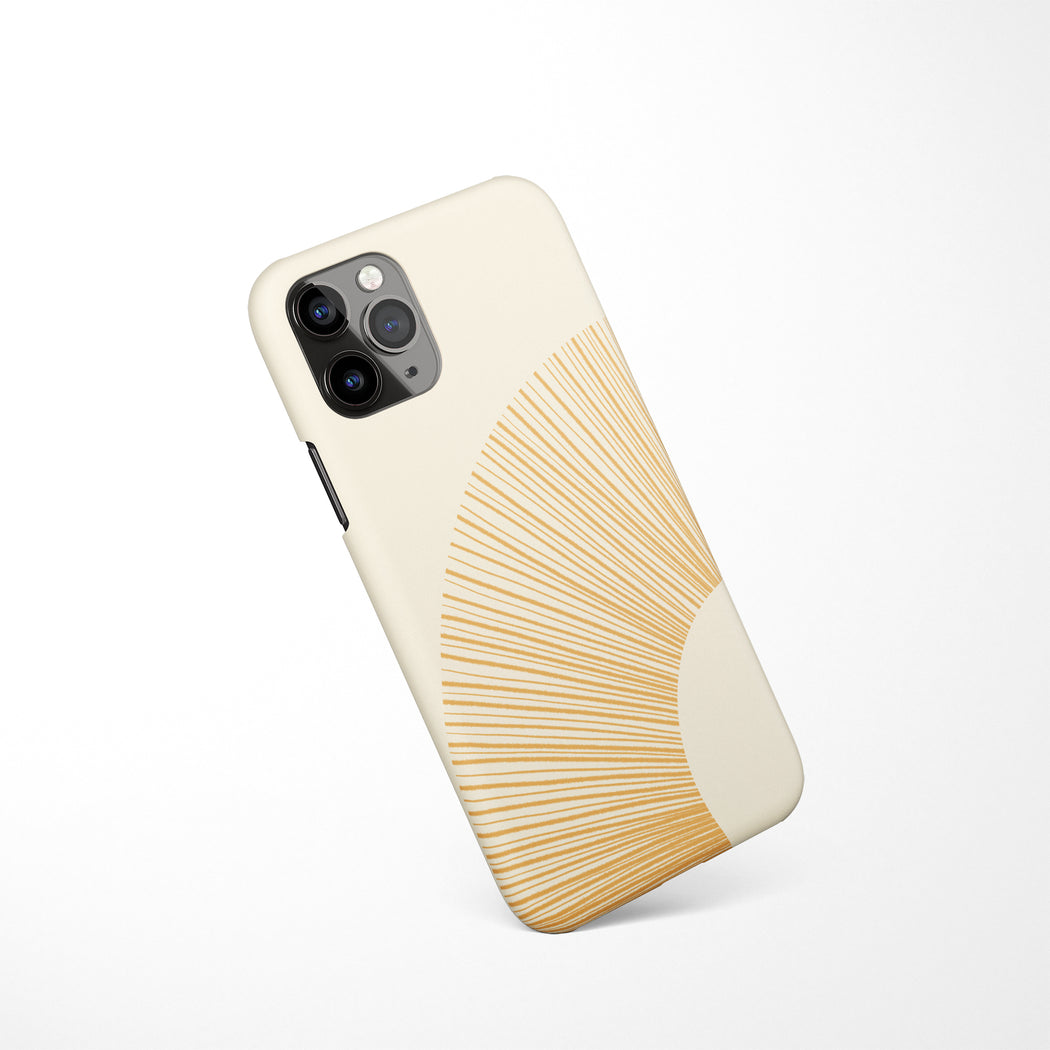 Mid Century Sun iPhone Case