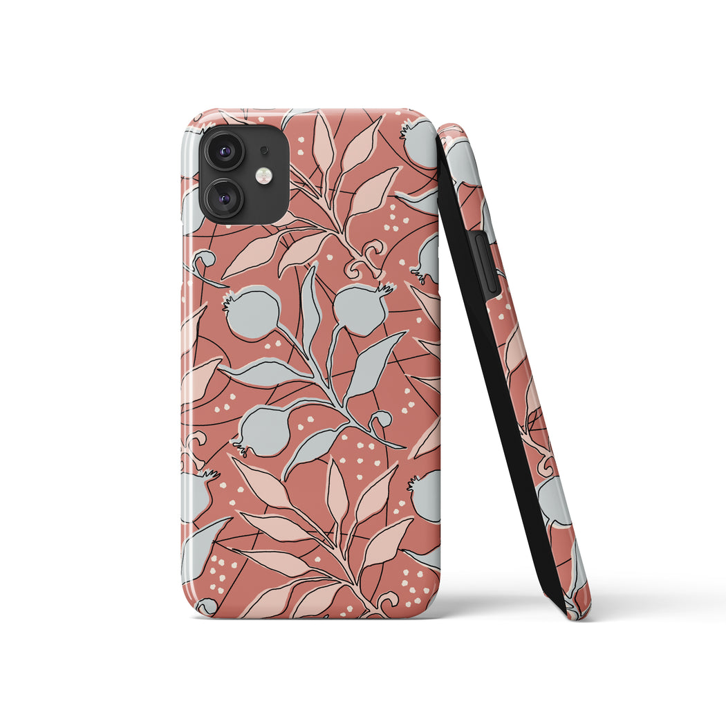 Retro Floral Pattern iPhone Case