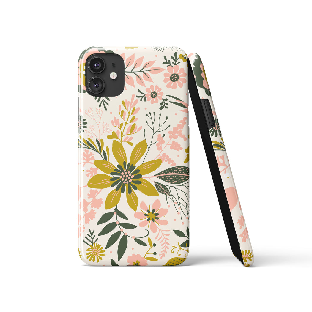 iPhone Case with Folk Floral Print