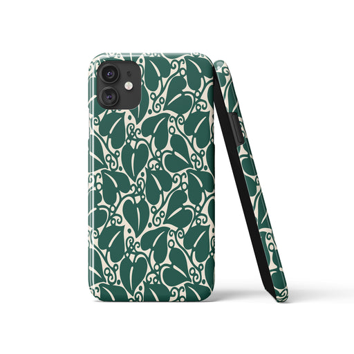Green Leaves iPhone Case