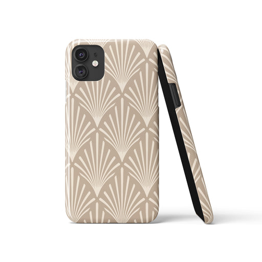 Beige Art Deco iPhone Case